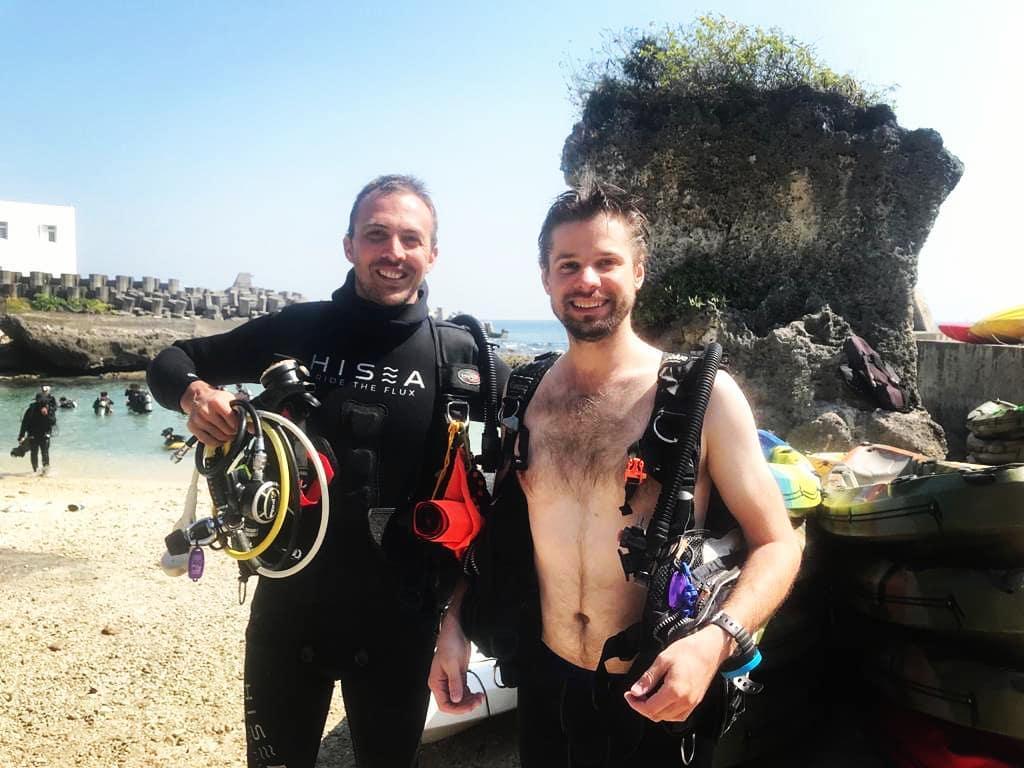 Yann Toupar diving in DaFu divesite